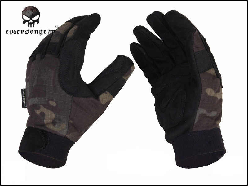 Outdoor Shooting Hunting Gloves Emerson Tactical Full Finger Lightweight Camouflage Glove Multicam Black BD8726 MCBK