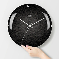 Creative 3D Wall   Clock   Modern Design Living Room Decoration Curved Mirror Glass Unique Watch Wall   Clocks   Home Decor Silent