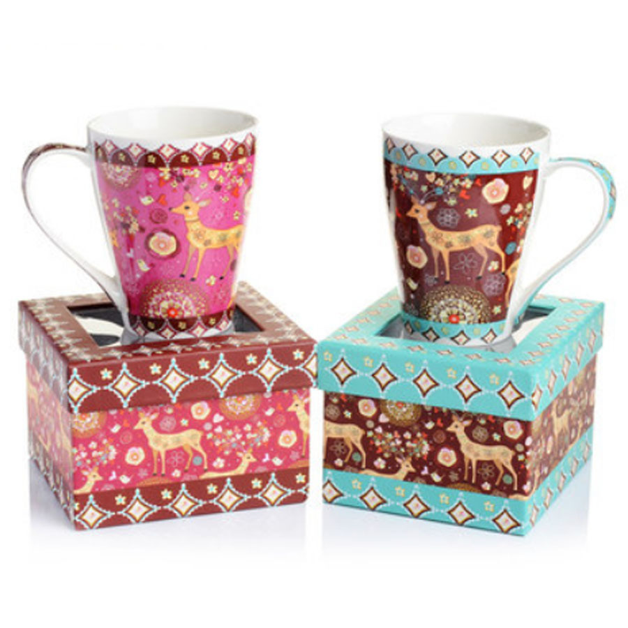 top grade ceramic christmas mugs 450ml unique large ceramic coffee mugs with gift box christmas gifts 2015 in mugs from home garden on aliexpresscom - Cheap Christmas Mugs