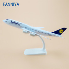 20cm Germany Air Lufthansa Boeing 747 B747 Airlines Airplane Model Airways w Stand Metal Model Plane Aircraft Kids Gift(China)