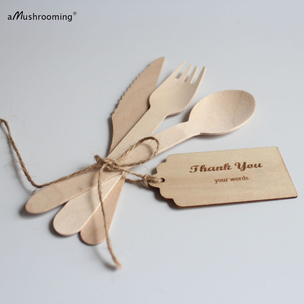 Organic Cutlery| Wooden Disposable Cutlery Set Eco Friendly ...