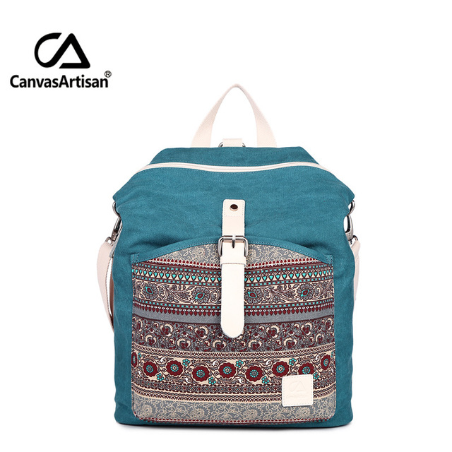 8bb8ece2d2b7 Canvasartisan top quality women canvas backpack bookbag female dual purpose  shoulder bag daily travel backpacks crossbody bags