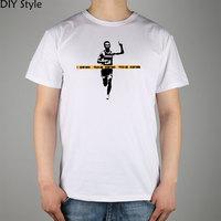 IC DONOT CROSS LINE BANKSY T Shirt Cotton Lycra Top Fashion Brand T Shirt 20315 Men