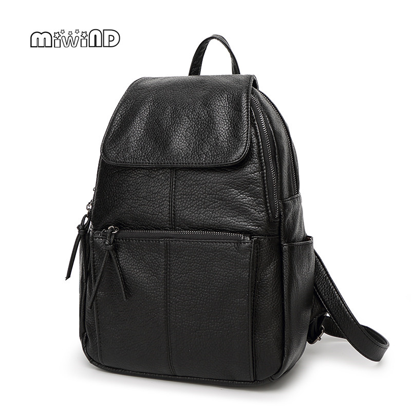 MIWIND Fashion Backpack Women High-grade Leather Backpack 2017 Hotsale School Bags for Teenagers Mochila Feminina Free Shipping miwind new backpack women school bags for teenagers mochila feminina women bag free shipping leather bags women leather backpack