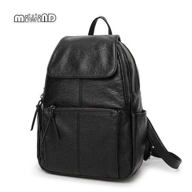 Miwind moda mochila mujeres mochila de cuero de alto grado 2017 hotsale mochilas escolares para adolescentes mochila feminina envío libre