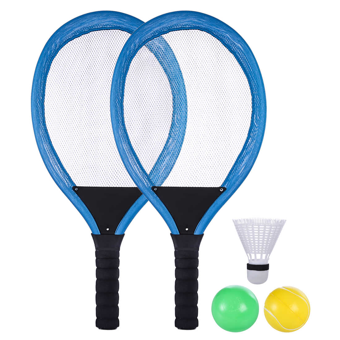 2Pcs Outdoor Sports Cloth Tennis Racket Training Racquet for Children Kids Outdoor - Blue