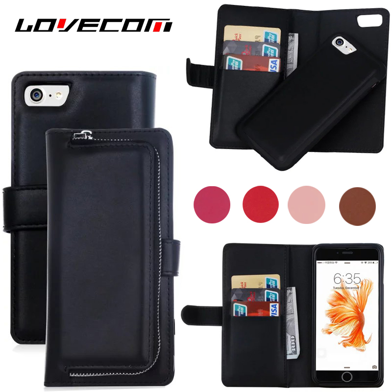 Bussiness Leather PU Wallet detachable Multifunctional Phone Back Cover Case For Samsung S6 S6Edge S7 S7Edge