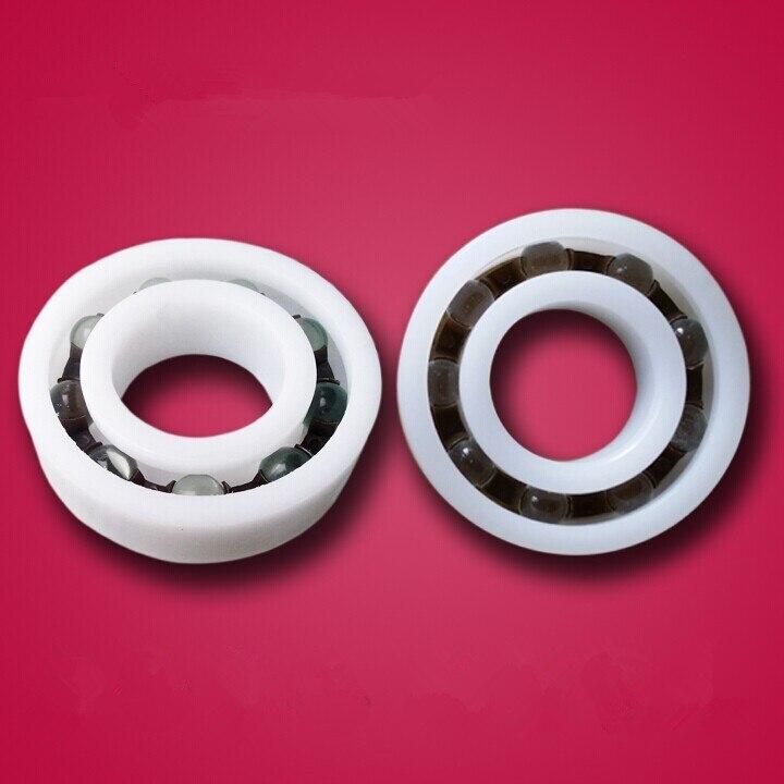 2 PCS Plastic Bearing PP 606 Glass Balls 6x17x6 Ball Bearings