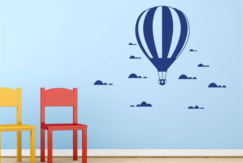 İsti hava balonu divar yapışdırıcıları Uşaq otağı ev - Ev dekoru - Fotoqrafiya 3