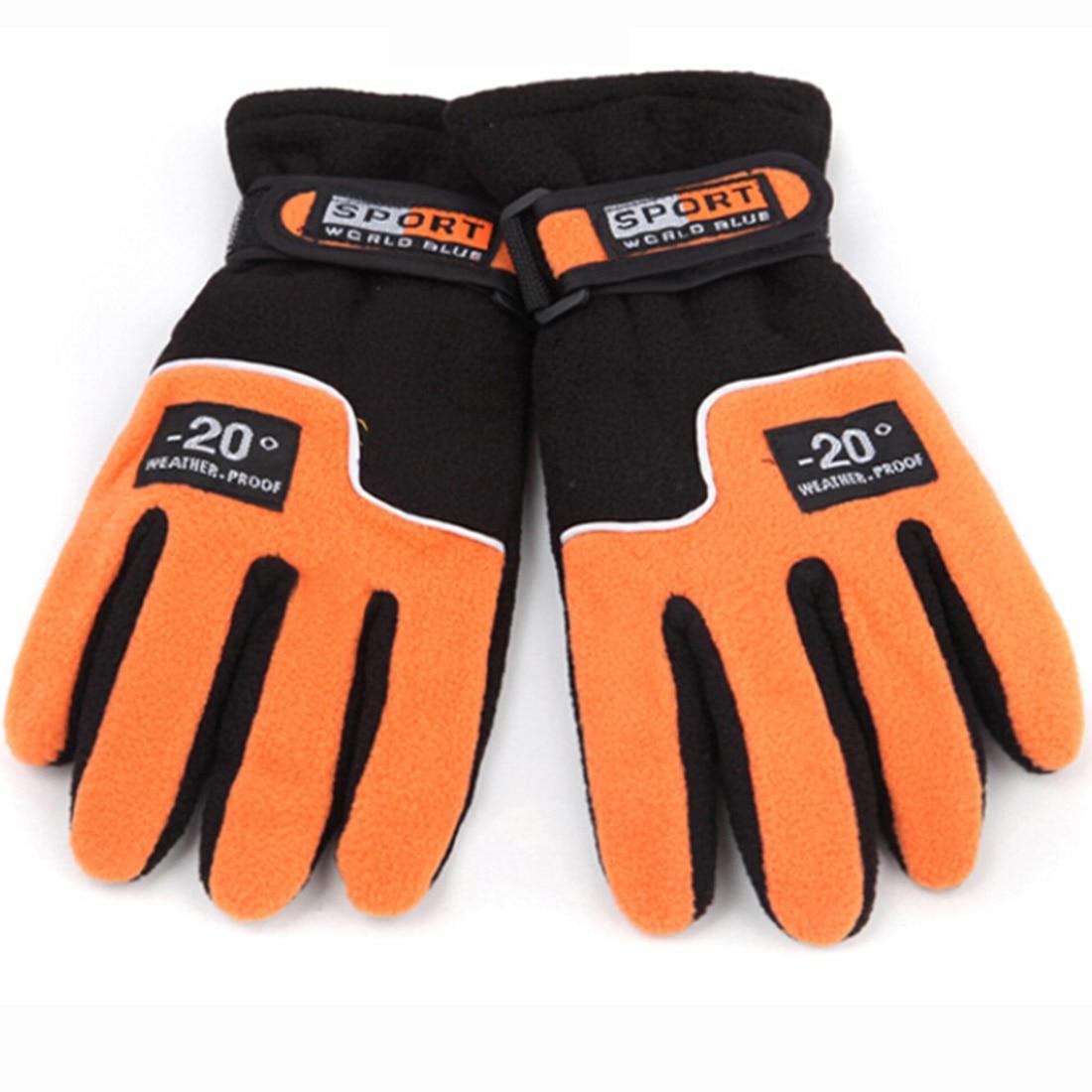 Winter Women Ski Motorcycle Warm Snowboard Gloves Orange / Dark Blue / Red Tactical