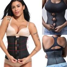 Women Corset Body Shaper Latex Waist Trainer Zipper Underbust Slim Tummy Waist Cincher Slimming Briefs Shaper Belt Shapewear цена