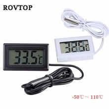 50 до 110 термометр Мини цифровой ЖК-дисплей для салона автомобиля измеритель температуры инструменты термометр датчик температуры#2