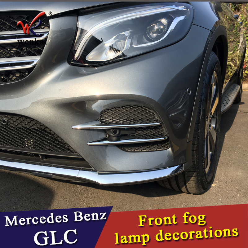 armonsons Front Fog Light Lamp ABS Chrome Trim Cover Stickers for Mercedes Benz GLC Class X253 2016+ Accessories Car Styling