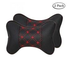 2 pacote Carro Pescoço Travesseiro Respirável Couro PU Auto Cabeça Resto Almofada Relaxar Pescoço Suporte Encosto De Cabeça Travesseiros Macios Travel & casa TZ001