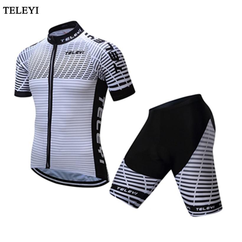 TELEYI 2017 nouveauté maillot de cyclisme vtt vélo maillot combinaison Cycle été Ropa Ciclismo manches courtes Coolmax combinaison de cyclisme