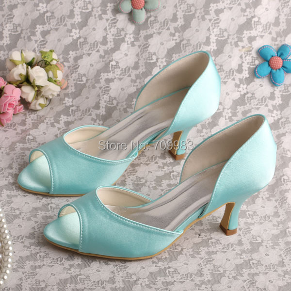 1d667c2a0ffe Dropshipping Ladies Mint Green Shoes Peep Toe Women Pumps for Party Brand