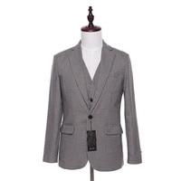 New Men Suit Jacket Plaid Wool Fabrics Herringbone Fashion Wedding Tuxedo Coat Designer Slim Fit Blazer Jackets Size XS 4XL