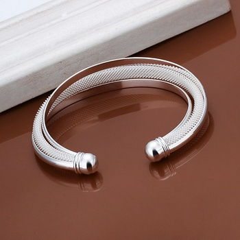 Silver color exquisite luxury gorgeous fashion hypotenuse bracelet  temperament charm Silver jewelry birthday gift B019 3