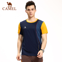 Camel outdoor Men quick-drying t-shirt sports breathable o-neck short-sleeve t-shirt camping hiking men's tops A6S242120