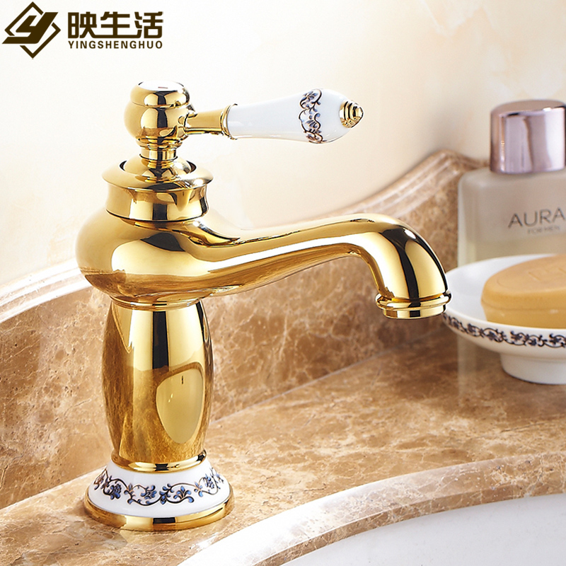Kitchen Faucets Brass Polished Chrome Rose Gold Silver Basin Faucet Blue White Porcelain Single Handle Sink Taps Hot Cold WaterKitchen Faucets Brass Polished Chrome Rose Gold Silver Basin Faucet Blue White Porcelain Single Handle Sink Taps Hot Cold Water