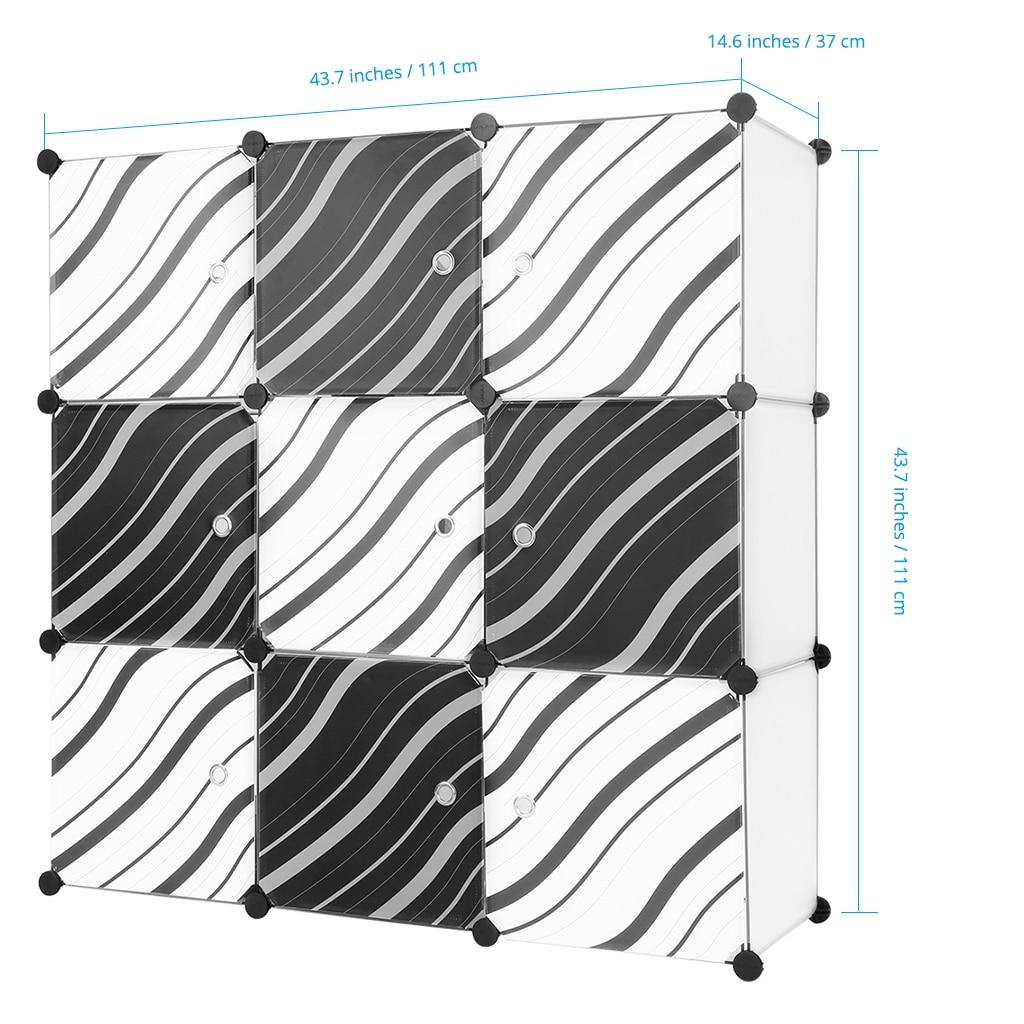 Bon LANGRIA 9 Cube Translucent White Interlocking Modular Storage Organizer  Shelving System Closet Wardrobe Rack With Zebra Stripe In Wardrobes From  Furniture ...