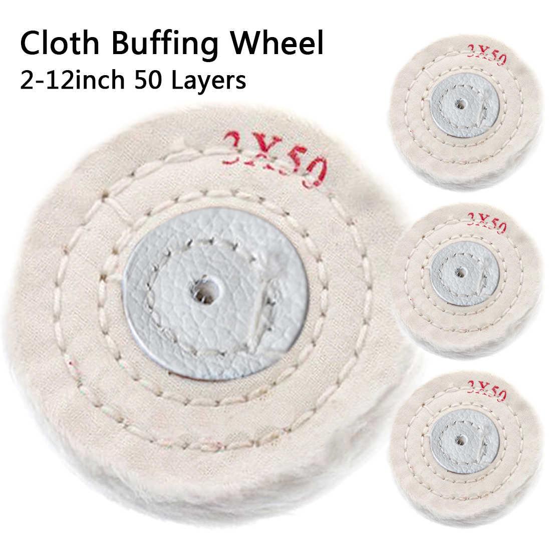T Style Polish Buffing Wheel Grinding Head Cloth Dremel