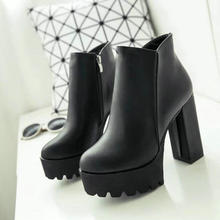 Ultra High Heels Toe Martin Ankle Boots PU27