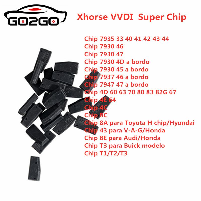 IN STOCK  Xhorse VVDI Super Chip Transponder For ID46/40/43/4D/8C/8A/T3/47/41/42/45/ID46 For VVDI2 VVDI Key Tool /Mini Key Tool