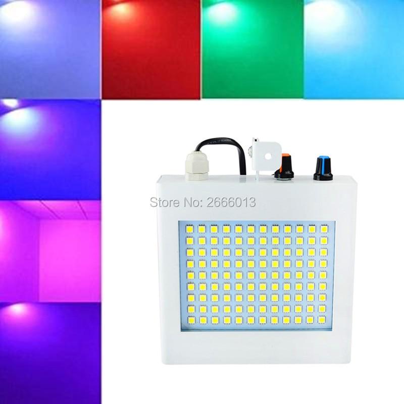 Niugul 108 LED Strobe light,RGB/White Color LED Flash lights,Speed Adjustable LED Strobe Stage Light