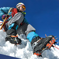 14 Dentes Com Empacotado Crampons Ice Gripper Aço Manganês Alpinista Profissional Expedições Crampons Neve Tamanho 5-11