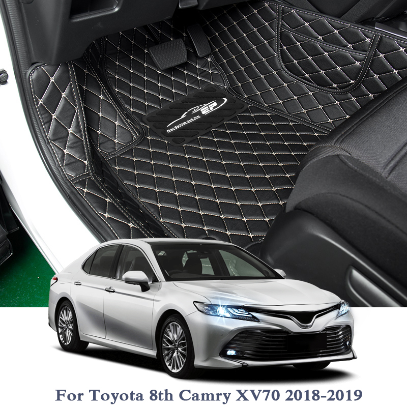 Car Styling Leather Car Floor Mat For Toyota Camry XV70 XV50 2012-2019 5Seats LHD Auto Foot Pad Automobile Carpet Cover InternalCar Styling Leather Car Floor Mat For Toyota Camry XV70 XV50 2012-2019 5Seats LHD Auto Foot Pad Automobile Carpet Cover Internal