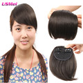bangs hairpiece straight natural black brown red color 35g 2clips flequillo postizo front hair bangs with headband free shipping