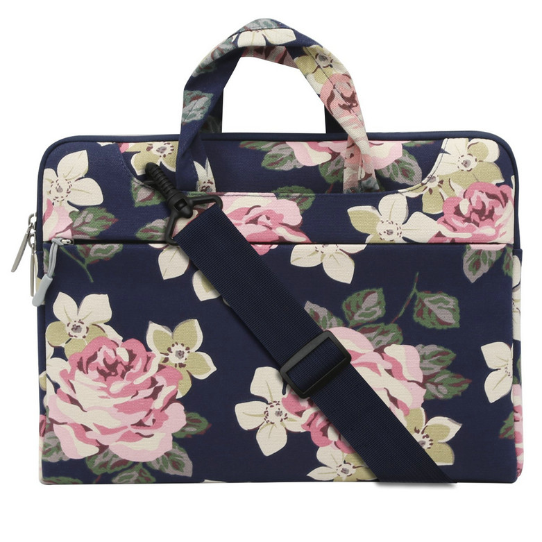 MOSISO 11 13.3 15.6 inch Canvas Fabric Laptop Shoulder Messenger Handbag Sleeve Cover Case for Macbook Air/Pro/Surface Notebook