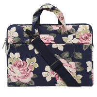 MOSISO 11 13 3 15 6 Inch Canvas Fabric Laptop Shoulder Messenger Handbag Sleeve Cover Case