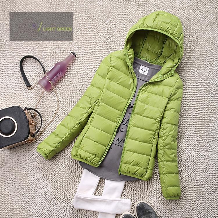 SEDUTMO Winter Plus Size 4XL Womens Down Jackets Short Ultra Light Duck Down Coat Hooded Puffer Jacket Autumn Parkas ED034 11