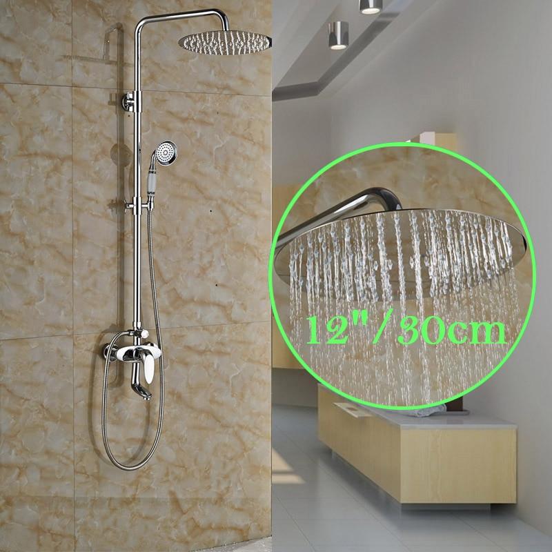 Factory Retail Shower Faucet 12 Brass Shower Head with Brass Hand Shower Water Taps