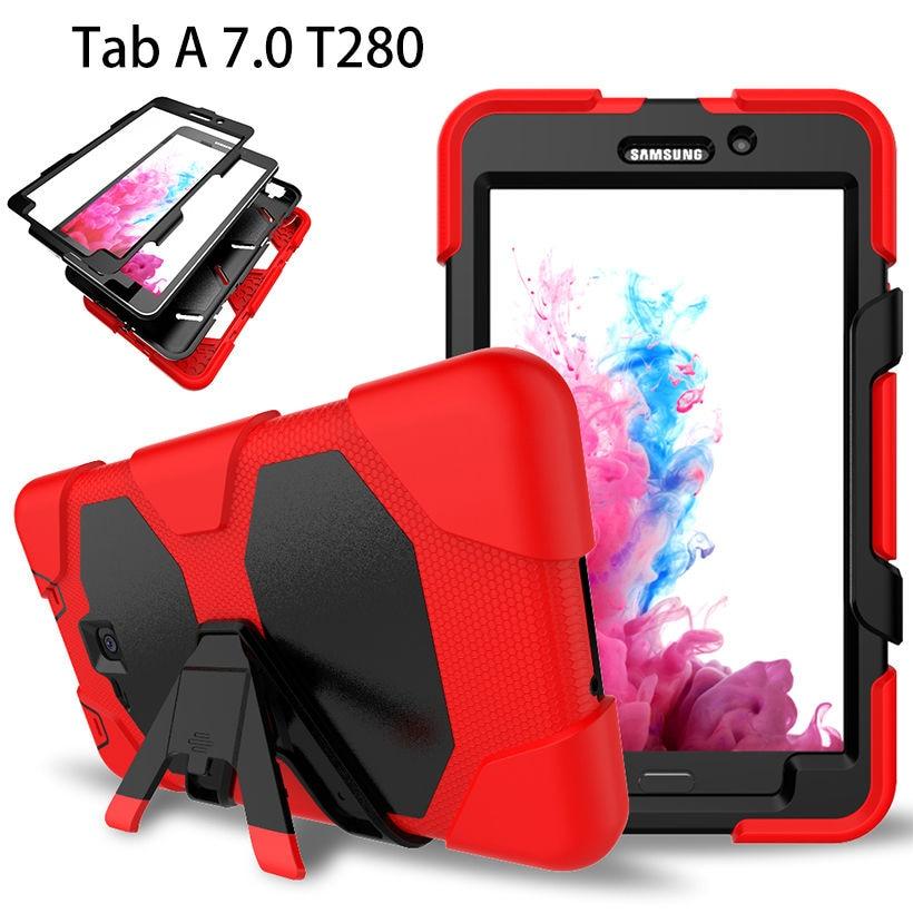 Samsung Tab A6 үшін Samsung Galaxy Tab A 7.0 дюймдік корпусы үшін 7.0 T280 T285 Cover Tablet Силиконға төзімді ауыр жүктеме Hang Funda