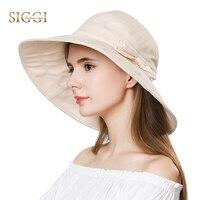 Womens Summer Sun Hat Cotton Upf 50 Uv Cap Wide Brim Bucket Beach Boonie Fashion
