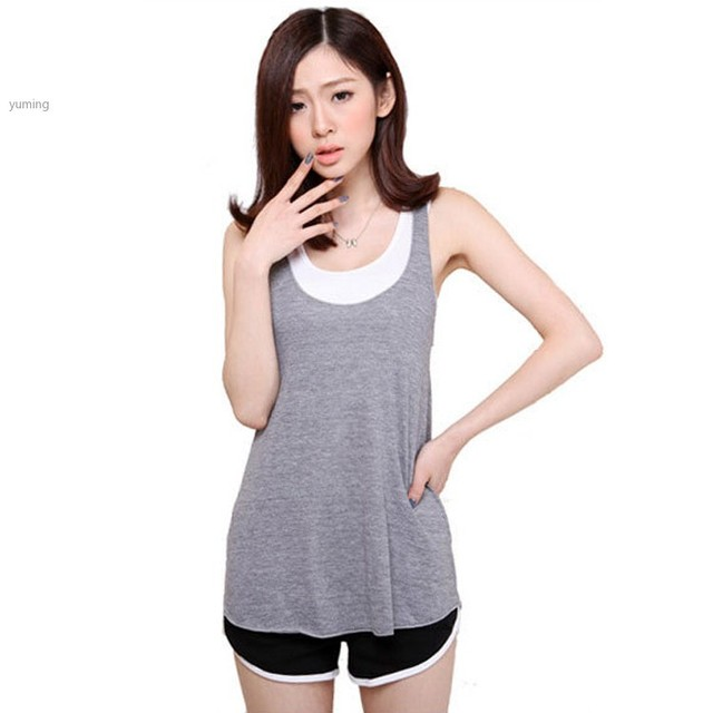 907ea7af6a2589 Summer Style Simple Classic Women Tank Top Summer Tanks   Camis O-Neck  Cotton Vest Shirts Women Cheap Clothing 12