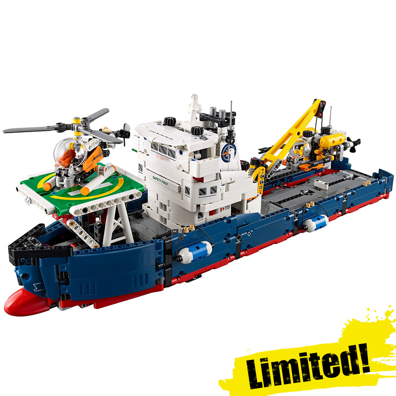 IN STOCK 20034 1347pcs Genuine New Technic Series The Searching Ship Set Building Blocks Bricks lepin Toys 42064 8 in 1 military ship building blocks toys for boys