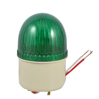 Industrial Green Signal Lamp Buzzer Sound Alarm Warning Light DC 24V 10W lta 205j 2 dc12v 2 layer tower light signals bulb warning lamp alarm 90db red green u bottom