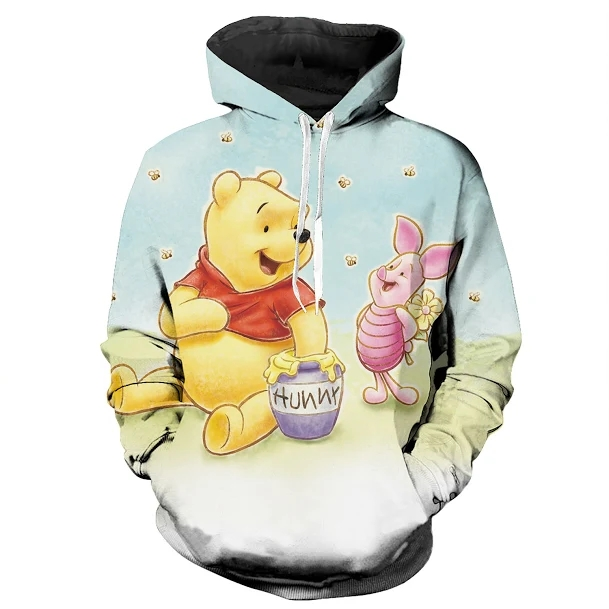2019 New Cartoon Honey bear tiger pig Friendship Men/Women Spring Autumn Hoodie 3d Thin Pullover Tracksuit Sportswear Dropship