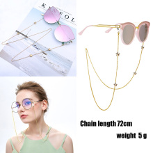 New Fashion Women Penadant Eyeglass Chains Hollow Star Sunglasses Reading Glasses Chain Eyewears Cord Holder Neck Strap Rope D30