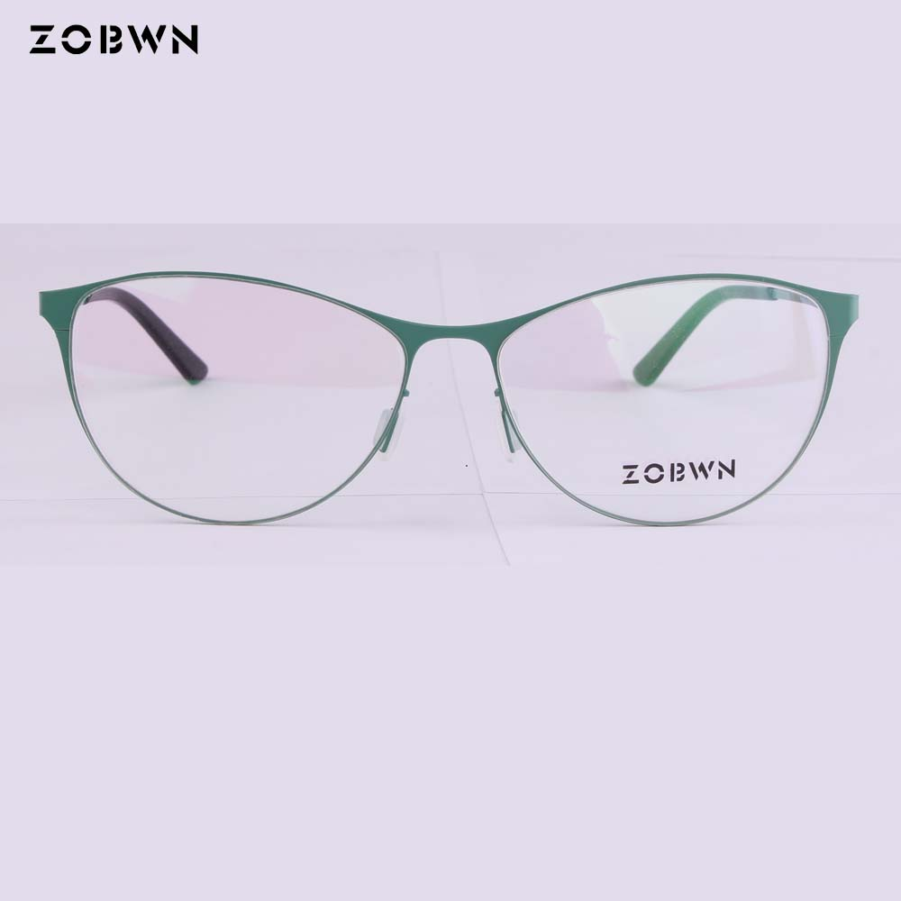 Gafas de ojo de gato ZOBWN marcas Vintage gafas marco mujer ordenador gafas ópticas gafas Retro mujer Armacao rojo
