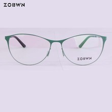 ZOBWN cat eye glasses marcas Vintage Eyeglasses Frame Women Computer Optical Glasses Spectacle Retro Womens Female Armacao red