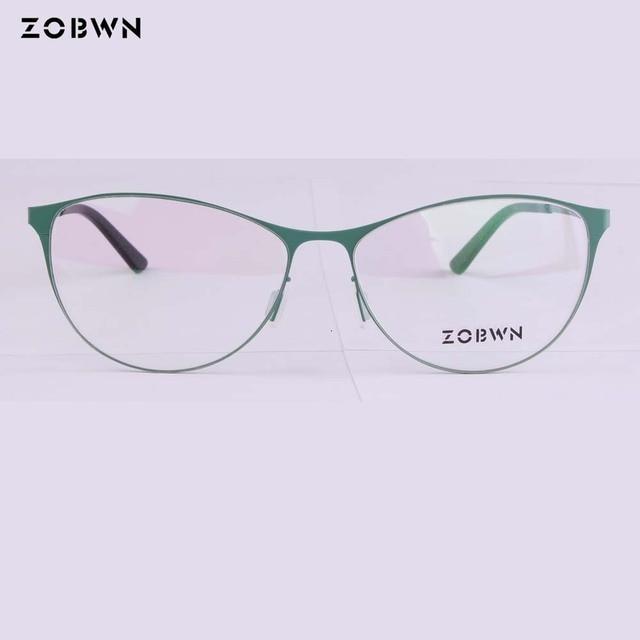 17ecb968091 ZOBWN cat eye glasses marcas Vintage Eyeglasses Frame Women Computer Optical  Glasses Spectacle Retro Women s Female