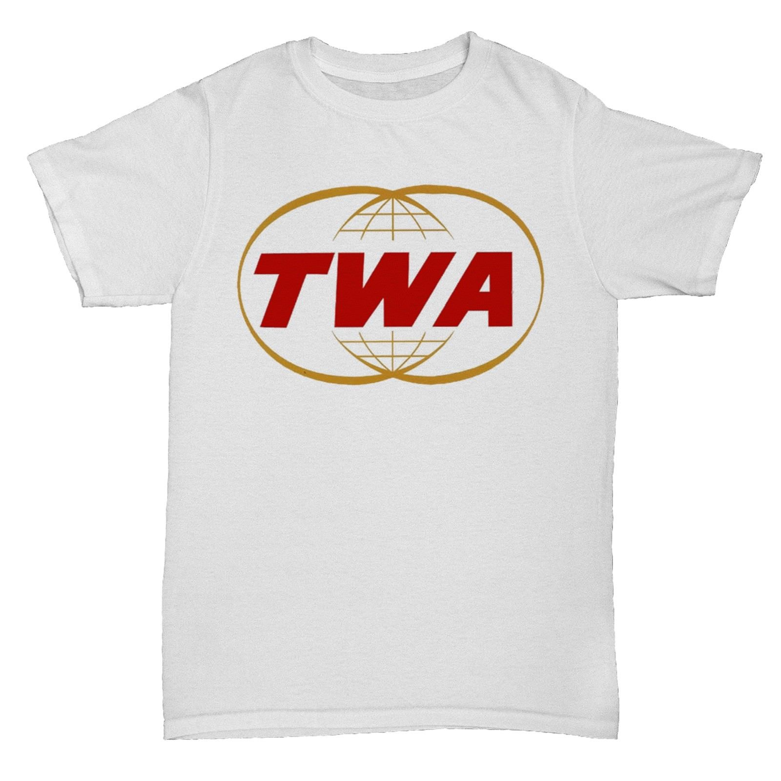 TWA TRANS AIRWAYS BA AIRLINES RETRO AEROPLANE BOAC PAN AM T SHIRT Print T-Shirt Harajuku ...