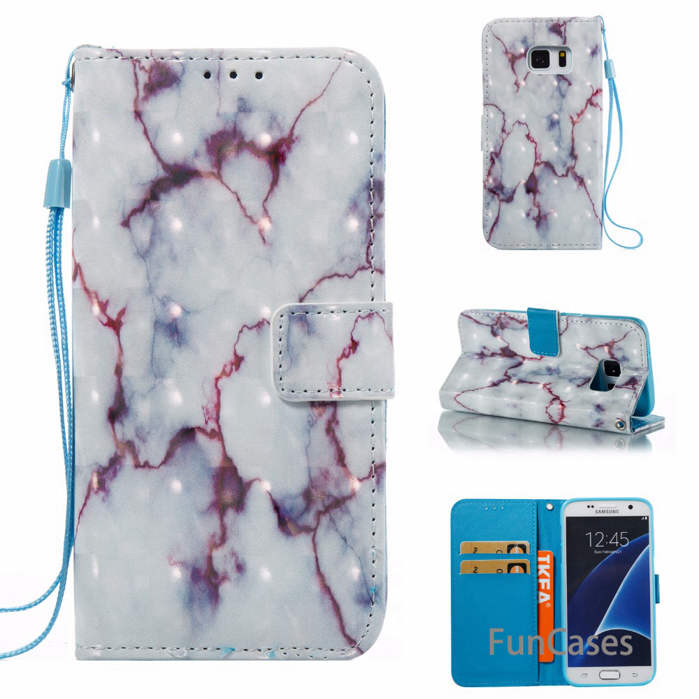Marble Vein Case For fundase Galaxy S7 Edge Case for Samsung Galaxy S7 Edge Case Etui Fundas Telefoon Hoesjes galxi Mobilne