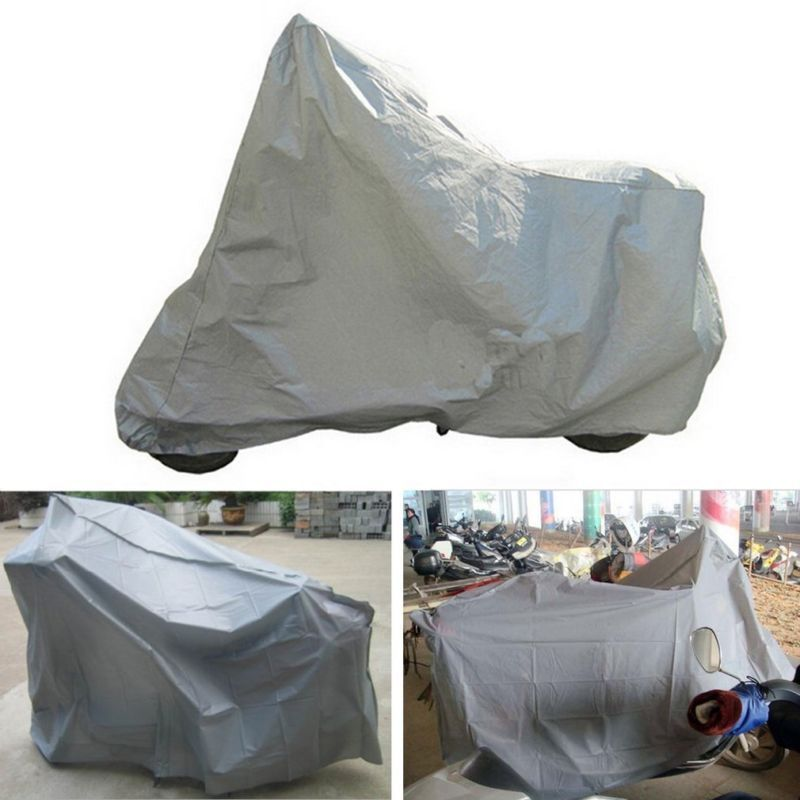 Motorcycle Cover Waterproof Protector Anti Dust Rain UV Scooter 120*210cm Silver