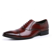 Black Mens Dress Shoes Real Cow Genuine Leather Pointed Toe Business Dress Shoes Mens Wedding Shoes Big Size JS-A0026 цена